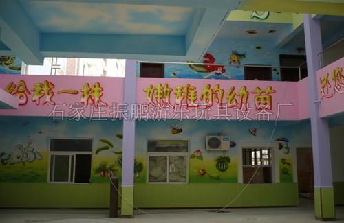 幼儿园墙面手工喷绘图-幼儿园墙面手工喷绘图